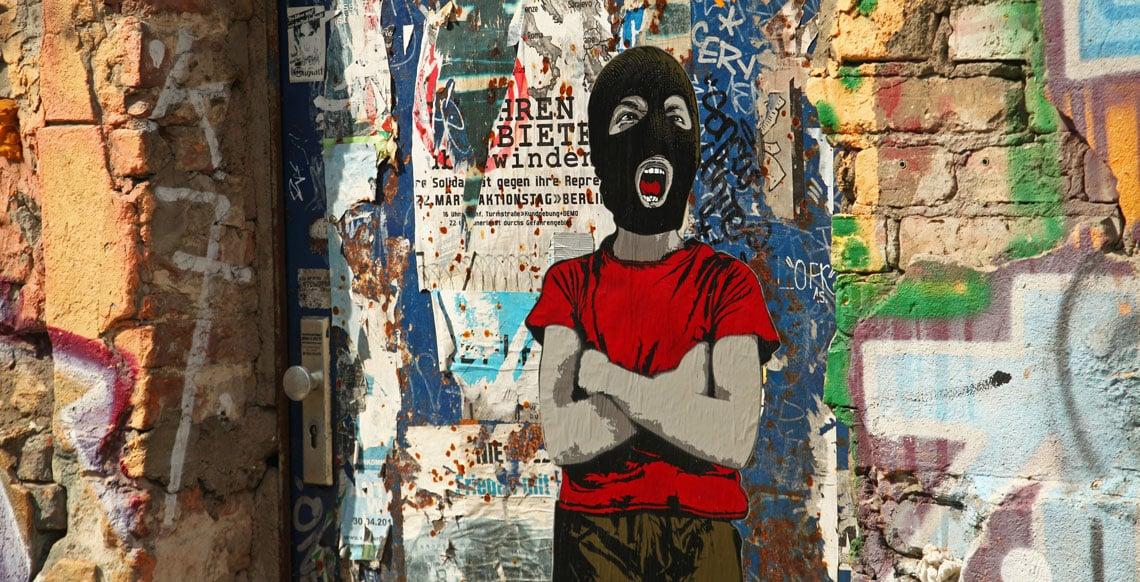 facebook just use paint graffiti wall stencil art