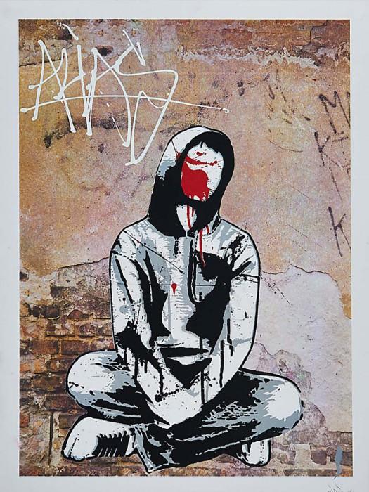 Alias stencil print anonymous sprayer