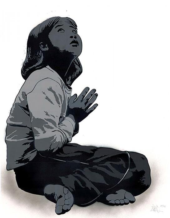 Alias Stencil Praying Girl