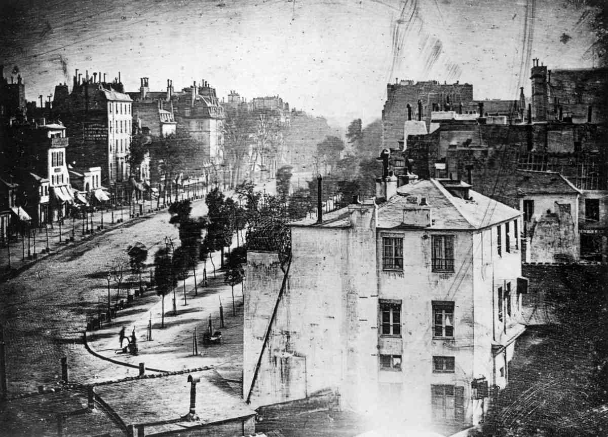 Louis Daguerre - Boulevard du Temple, 1938 - Image via wikimedia.org
